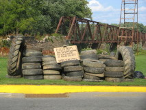 We collected 92 tires all told.