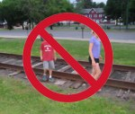 Stay Off the Tracks!  (Except During Our Cleanup)